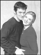 Jesse Klenk as Marty and Laura Anne Otts as Lesly in House of Yes