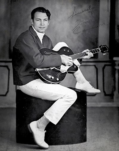 Jim Cannon poses for a promo at - Blue Light Studio, which was located at Beale Street and Second Avenue. - COURTESY CANNON FAMILY