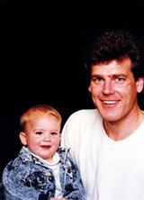 Joe Birch with son Joe Birch III, who was born - the same year as the Flyer (1989)