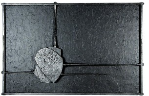 John Hawk's Black on Black #1, at Jack Robinson Gallery