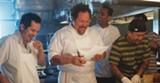 John Leguizamo, Jon Favreau, Bobby Carnivale, and Roy Choi in Chef