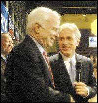 John McCain (center) stumps for Bob Corker in Nashville - JACKSON BAKER