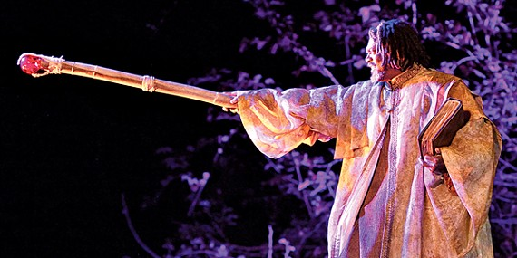 Johnny Lee Davenport as Prospero in the Tennessee Shakespeare Company's production of The Tempest