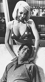 "Joi Lansing and Dean Martin in ""Marriage on the Rocks."""