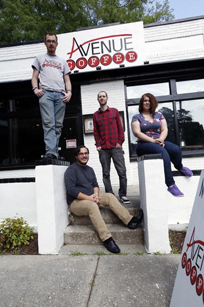 Jordan Miller, Nicolas Griffin, - Jaron Weidner, and Rebecca Skaggs - JUSTIN FOX BURKS