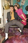 Jordan Nichols and Courtney Oliver in <i>Hairspray</i>