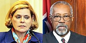 Judges Gomes (l), Donald