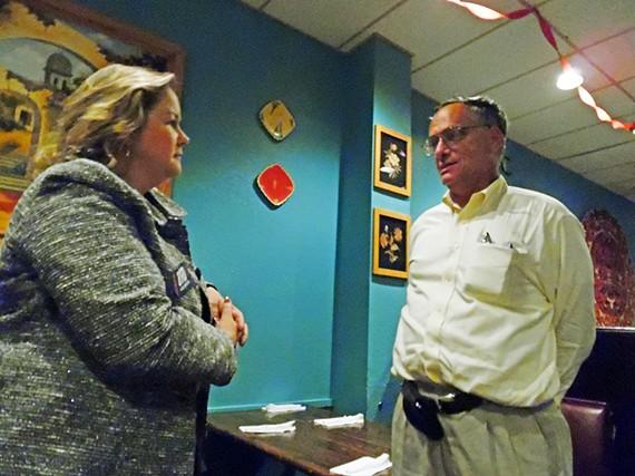 Judicial aspirant Julie Dichtel Byrd with GOP activist Arnold Weiner