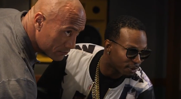 Juicy J and The Rock on Wake Up Call.