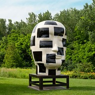 Jun Kaneko sculpture at the Dixon
