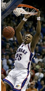 Kansas guard Brandon Rush