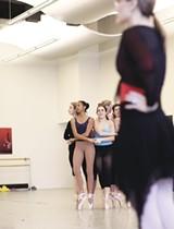 JUSTIN FOX BURKS - Katie Smythe with students at Memphis' New Ballet Ensemble