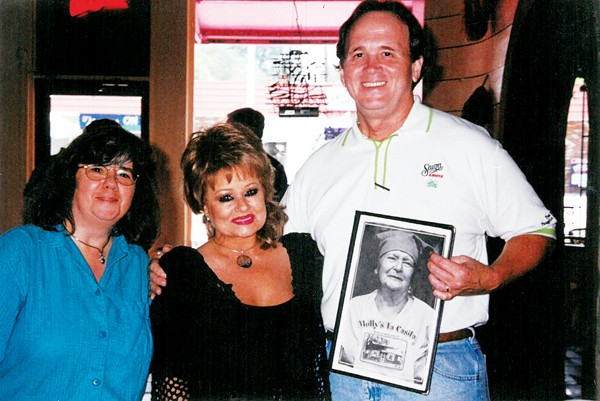 Kelly Johnson, Tammy Faye Bakker, and Robert Chapman at Molly's La Casita, circa late 1980s