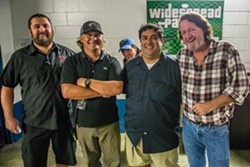 (L to R) Mike Smith (Production Manager), Jeff Duckworth (Merchandise), John Herman (Keys), Steve Lopez (Tour Manager), John Bell (Lead Vocals & Guitar) - JOSHUA N. TIMMERMANS