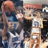 Laettner and Davis during their Duke days.