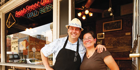 Lance and Carol Silkes at the Front Street Deli
