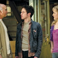 Larry David (left): jackass who wants to be loved