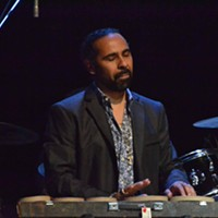 """Memphis Music Hall of Fame: 2014 Lawrence """"Boo"""" Williams playing the electric timbales during """"I Can't Stand the Rain."""" Patrick Lantrip"""