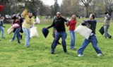 Let the feathers fly: Pillow fighters take a swing at Overton Park
