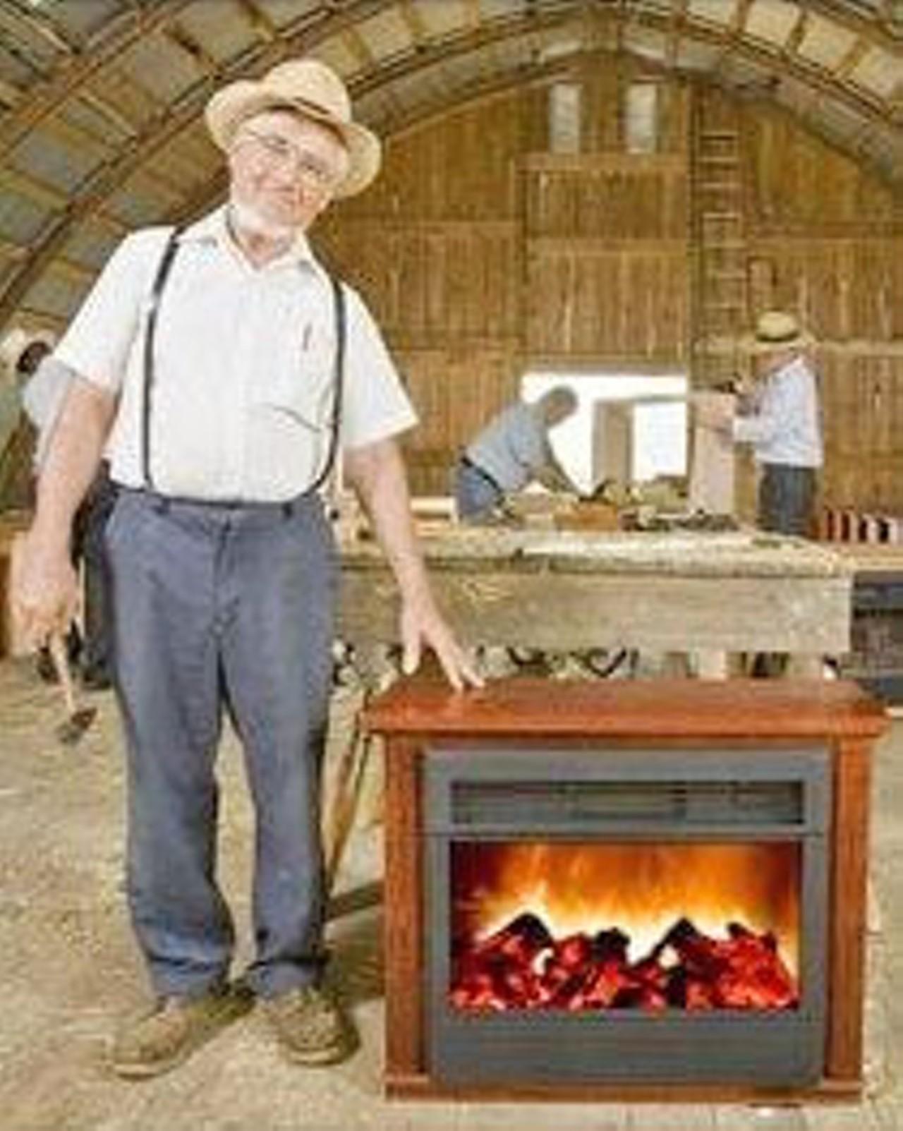 amish flameless fireplace home decorating interior design bath