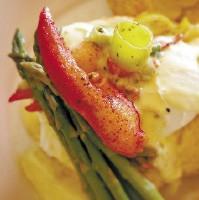 Lobster Benedict for Sunday brunch at Caf 1912 - JUSTIN FOX BURKS