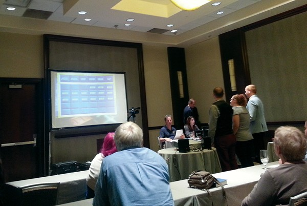 Locals audition for Jeopardy at the Westin hotel. - ALEXANDRA PUSATERI
