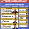 """Ford Sr.'s """"Approved Democratic Ballot"""""""