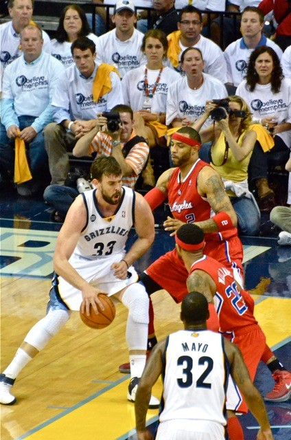 Marc Gasol carved up the Clippers early in Game 1.