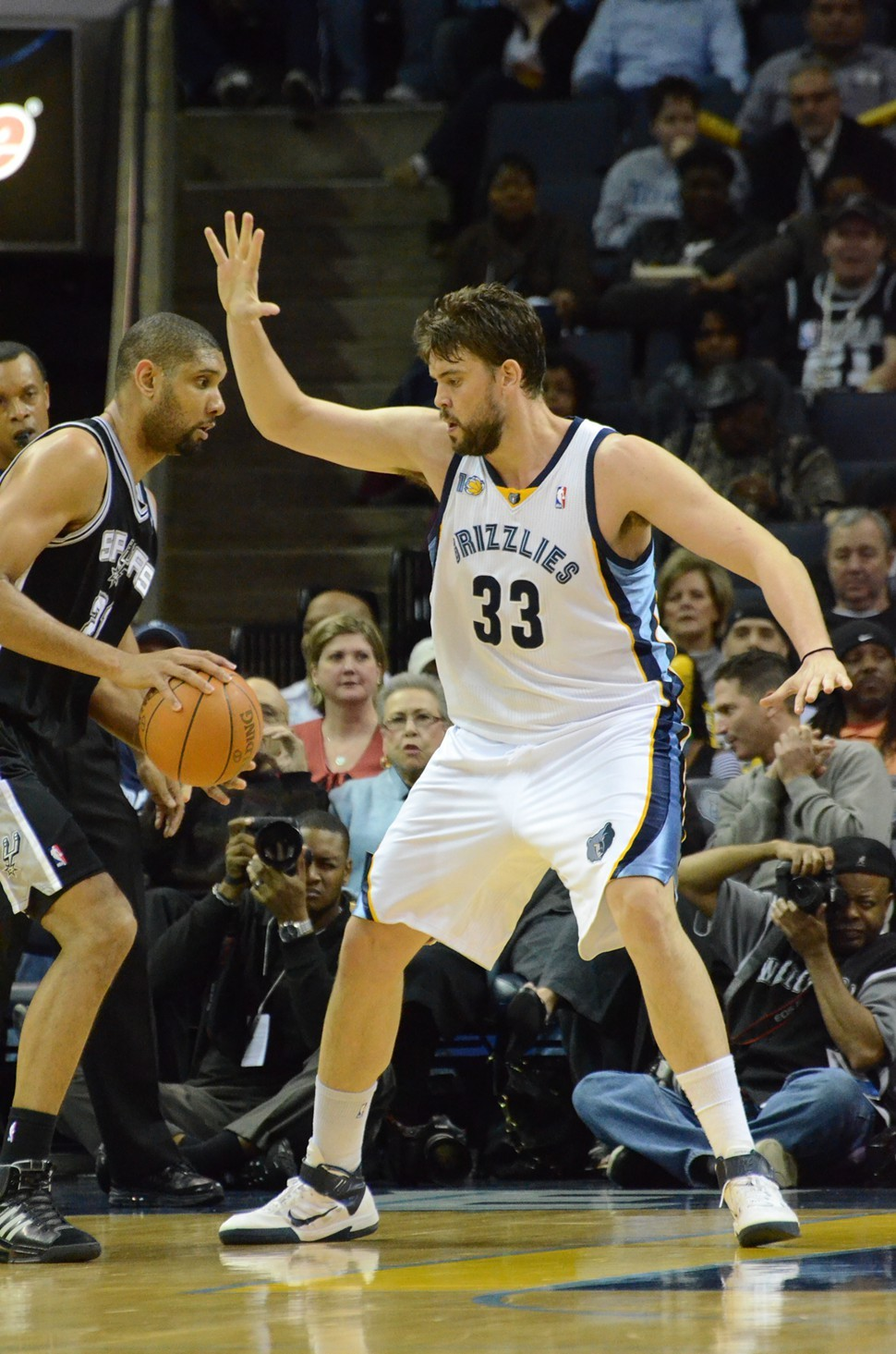 Marc Gasol got the best of Tim Duncan last spring. Monday night, it was Duncans turn, but was still a great match-up.