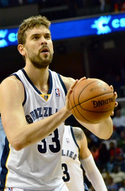 Marc Gasol returned from an MCL sprain last night and led the Grizzlies to victory over the Thunder.