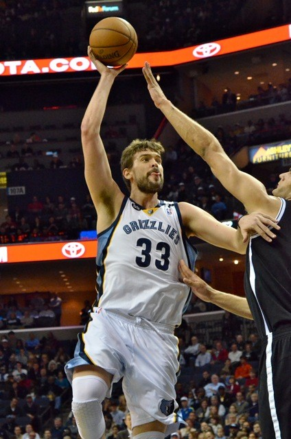 Marc Gasol went large in the first half.