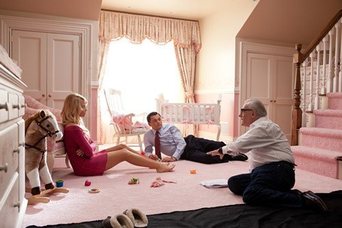 Margot Robbie, Leonardo DiCaprio, and Martin Scorsese
