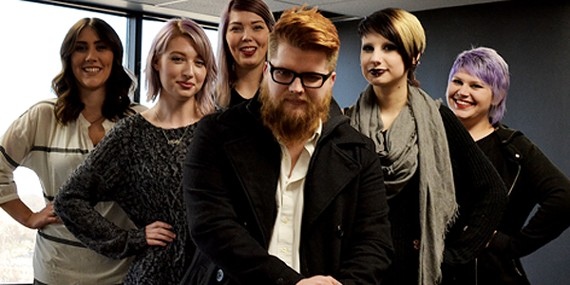 Mat Brown and his team of hair stylists