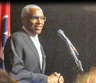 Mayor A C Wharton at state Democrats Jackson Day Dinner