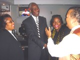 Mayor Herenton last week at fund-raiser for Judge Gwen Rooks (l); others are Judges Carolyn Blackett and Tony Johnson.
