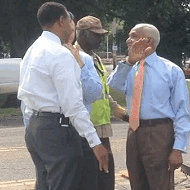 Mayor, Public Works Director Get Down