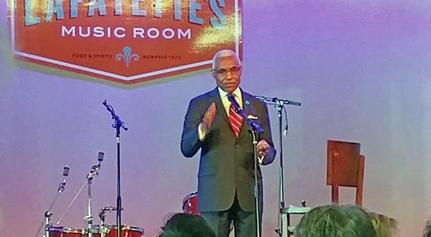 Mayor Wharton at Lafayette's - JB
