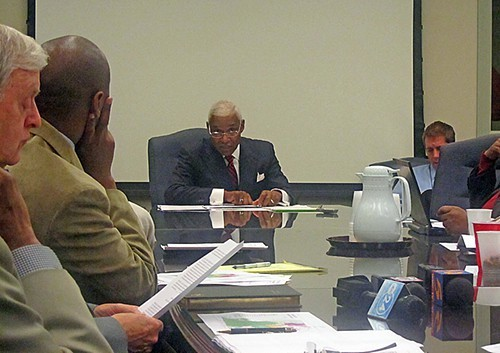 Mayor Wharton lays the case out to attentive council members