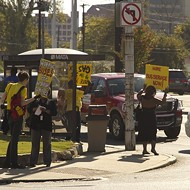 Memphis Bus Riders Union Demonstrates for Gas Tax