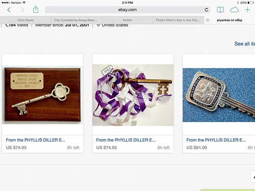 Memphis is #1 (when it comes to Keys to the City presented to Phyllis Diller)