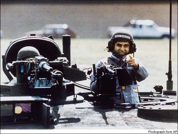 Michael Dukakis in the tank