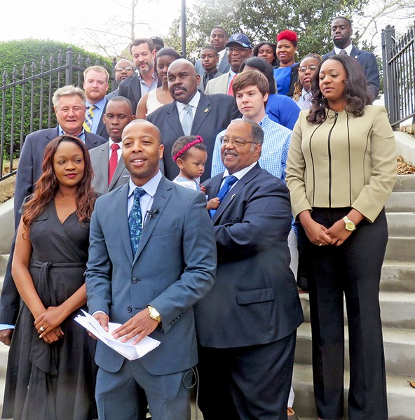 Mickell Lowery, backed by family and friends, announces candidacy for Super-District 8. - JB