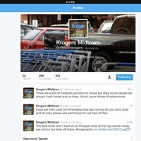 """@MidtownKrogers """"Account Suspended"""" — and Now Back?"""