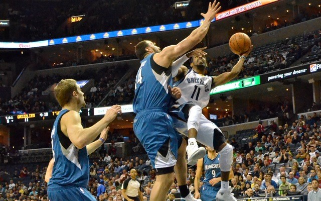 Mike Conley helped lead a balanced, share-the-ball attack as the Grizzlies won comfortably against the depleted Timberwolves.