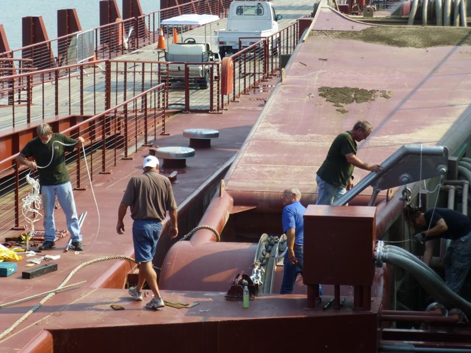Mooring arm of BSL dock