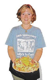 Mr. Bruce's Nachos from Molly's La Casita delivered by waitress Carie Newton - JUSTIN FOX BURKS