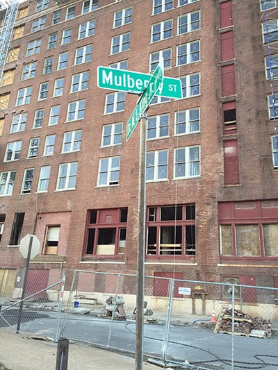 Mulberry Street, by the Chisca, will be closed. - BIANCA PHILLIPS