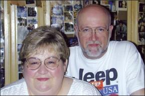 Nancy and Bob Heaton of the P&H Cafe - CHRIS DAVIS