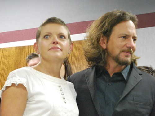 * Natalie Maines and Eddie Vedder showed up to support the West Memphis Three.