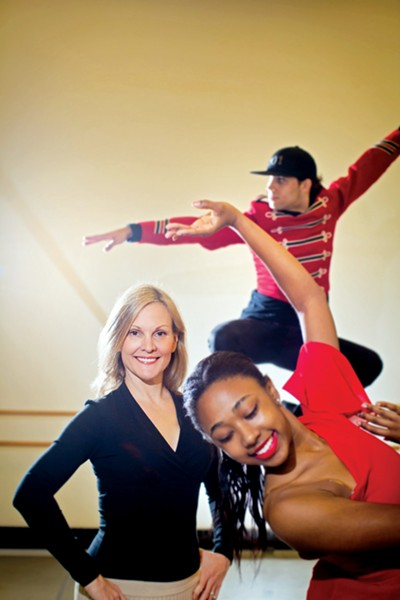 NBE founder and CEO Katie Smythe with dancers - JUSTIN FOX BURKS